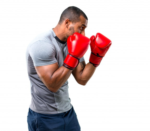 man in a boxing stance
